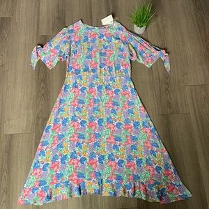 Faithfull The Brand Emilia Floral Midi Dress Sz 10